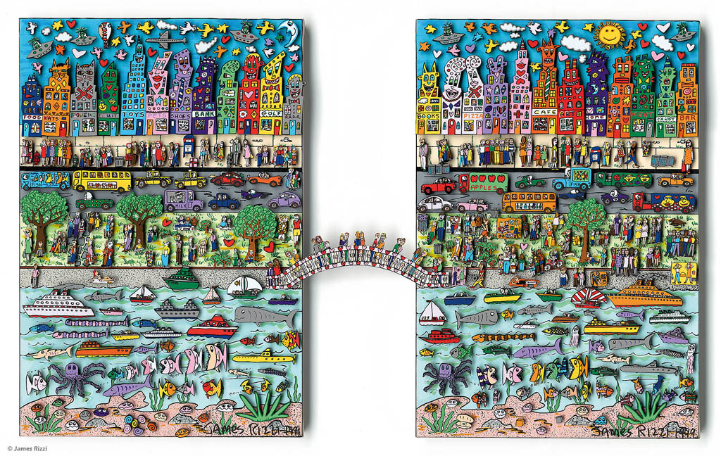 James rizzi 35 magnete easy living on a sunday 3d aus for Easy living